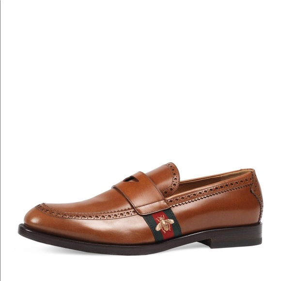 17b294a1e Gucci Shoes | Mens Strand Penny Webbee Leather Loafers | Poshmark